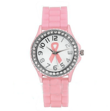Yoga-Supreme™ Pink Ribbon Analog Quartz Watch