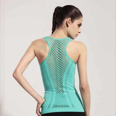 Hollow Back Top Gym Jogging Vest