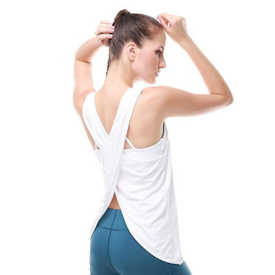 Backless Sport Shirt Yoga Vest