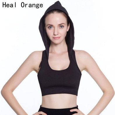 Brand Sport Bras With Pad and Hood