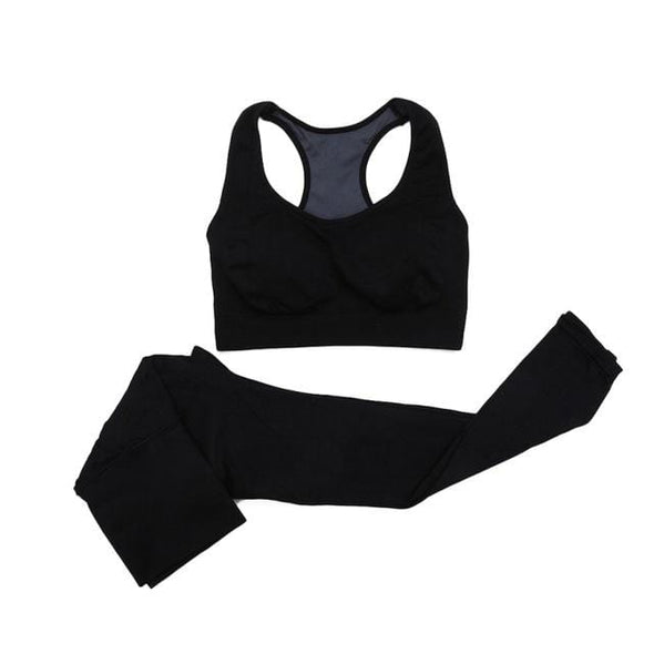 Yoga-Supreme™ Women Seamless Sports Bra+Pants Set