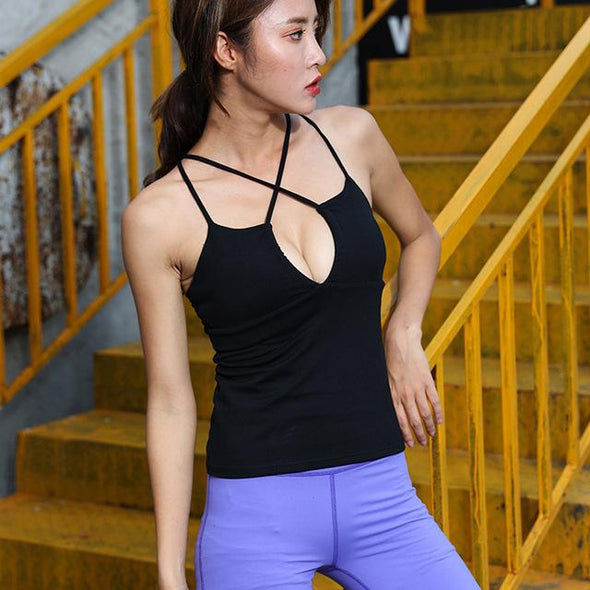 Seamless Padded Sports Bra Top