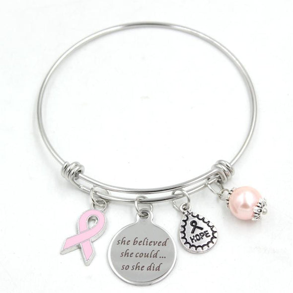 Yoga-Supreme™ Breast Cancer Adjustable Bangle