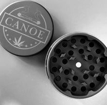 "Load image into Gallery viewer, The GRIND (Black Matte Rubbber 2.5"" Aluminum Grinder)"