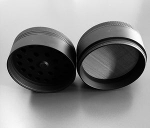 "The GRIND (Black Matte Rubbber 2.5"" Aluminum Grinder)"
