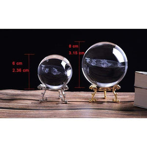 3D Solar System Crystal Sphere Ball gadget sortedfactory