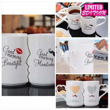 Load image into Gallery viewer, Kissing His and Her Coffee Mugs kitchen sortedfactory