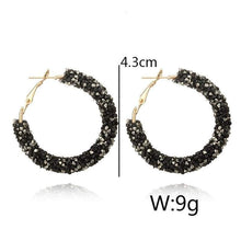 Load image into Gallery viewer, Charm Austrian crystal hoop earrings earrings sortedfactory