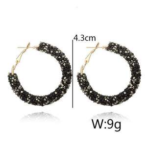 Charm Austrian crystal hoop earrings earrings sortedfactory