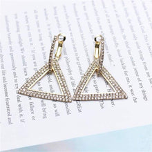 Load image into Gallery viewer, Elegant Crystal Earrings - gold 1 - earrings