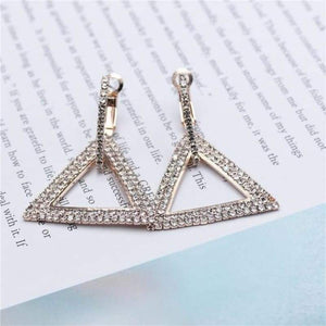 Elegant Crystal Earrings - Rose gold 1 - earrings