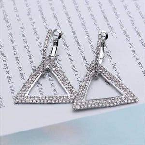 Elegant Crystal Earrings - silver 1 - earrings