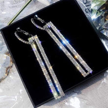 Load image into Gallery viewer, Elegant Crystal Earrings - silver 3 - earrings