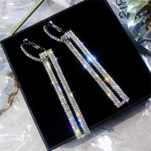 Elegant Crystal Earrings - silver 3 - earrings