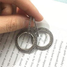 Load image into Gallery viewer, Elegant Crystal Earrings - silver-grey - earrings