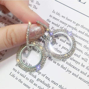 Elegant Crystal Earrings - earrings