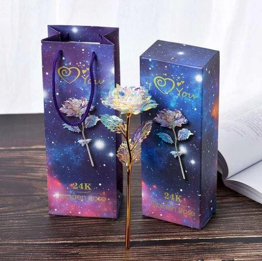 Galaxy Rose flower Gift