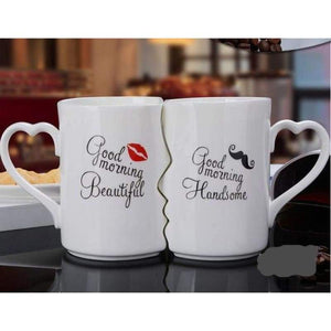 Kissing His and Her Coffee Mugs - A / 360ML - kitchen