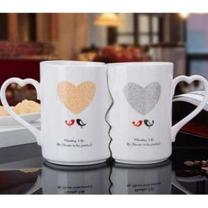Kissing His and Her Coffee Mugs - B / 360ML - kitchen