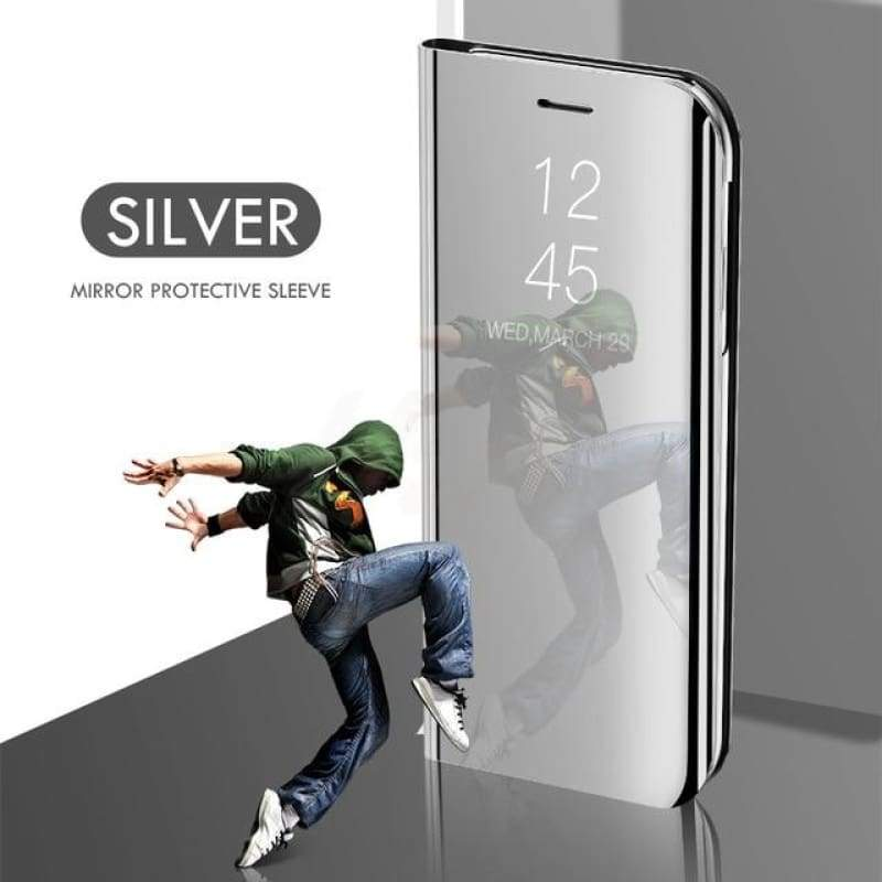 Luxury Smart Mirror Phone Flip Case For Samsung Flagship - gadget