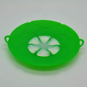 Multi-Purpose Lid Cover and Spill Stopper - Green - gadget
