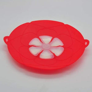 Multi-Purpose Lid Cover and Spill Stopper - Red - gadget