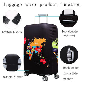Travel Around The World | Standard Design | Luggage Suitcase Protective Cover interesting sortedfactory
