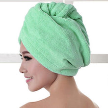 Load image into Gallery viewer, Quick Hair Drying Towel After Shower women sortedfactory Green 60x20cm