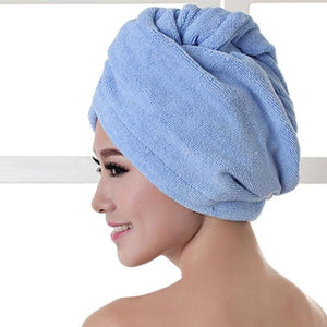 Quick Hair Drying Towel After Shower women sortedfactory Blue 60x20cm