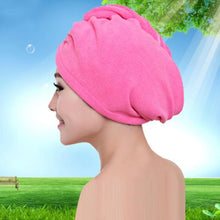 Load image into Gallery viewer, Quick Hair Drying Towel After Shower women sortedfactory rose red 60x20cm