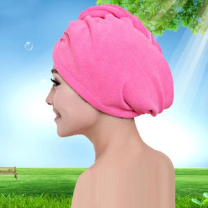 Quick Hair Drying Towel After Shower women sortedfactory rose red 60x20cm