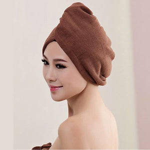 Quick Hair Drying Towel After Shower women sortedfactory coffee 60x20cm