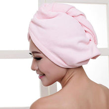 Load image into Gallery viewer, Quick Hair Drying Towel After Shower women sortedfactory pink 60x25cm