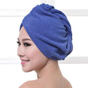 Quick Hair Drying Towel After Shower women sortedfactory Navy Blue 60x20cm