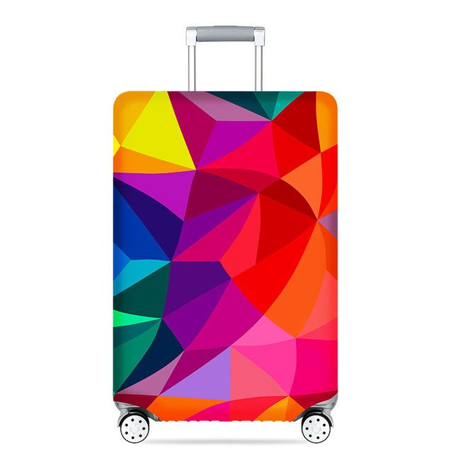 Travel Around The World | Standard Design | Luggage Suitcase Protective Cover interesting sortedfactory Colorful Geometry S