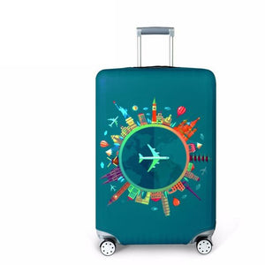 Travel Around The World | Standard Design | Luggage Suitcase Protective Cover interesting sortedfactory Travel Around World S