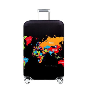 Travel Around The World | Standard Design | Luggage Suitcase Protective Cover interesting sortedfactory Footprint Map S