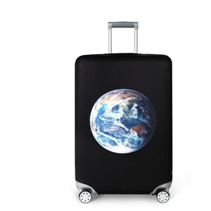 Travel Around The World | Standard Design | Luggage Suitcase Protective Cover interesting sortedfactory Pulsating Earth S