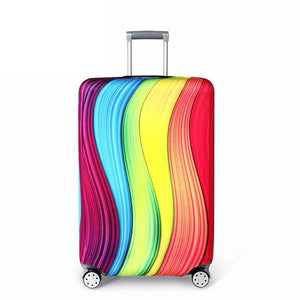 Travel Around The World | Standard Design | Luggage Suitcase Protective Cover interesting sortedfactory Rainbow S