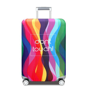 Travel Around The World | Standard Design | Luggage Suitcase Protective Cover interesting sortedfactory Color Stripe S