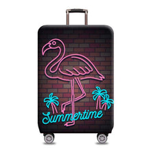 Load image into Gallery viewer, Travel Around The World | Standard Design | Luggage Suitcase Protective Cover interesting sortedfactory Neon flamingo S