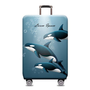 Travel Around The World | Standard Design | Luggage Suitcase Protective Cover interesting sortedfactory Dolphins S