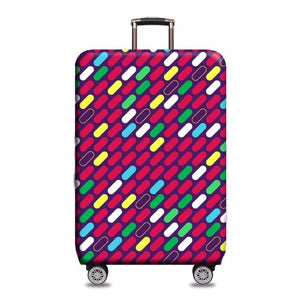 Travel Around The World | Standard Design | Luggage Suitcase Protective Cover interesting sortedfactory Oval stripes S