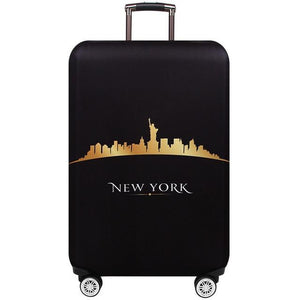 Travel Around The World | Standard Design | Luggage Suitcase Protective Cover interesting sortedfactory New York S