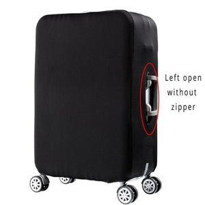 Travel Around The World | Standard Design | Luggage Suitcase Protective Cover interesting sortedfactory Style 2 Black S