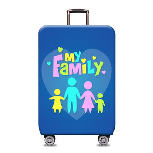 Travel Around The World | Standard Design | Luggage Suitcase Protective Cover interesting sortedfactory My family S