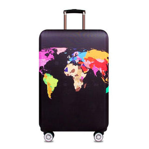 Travel Around The World | Standard Design | Luggage Suitcase Protective Cover interesting sortedfactory Word Map S