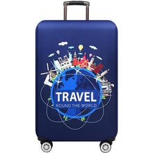 Load image into Gallery viewer, Travel Around The World | Standard Design | Luggage Suitcase Protective Cover interesting sortedfactory Blue Travel World S