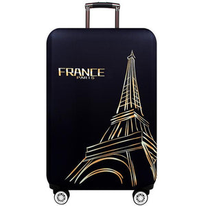 Travel Around The World | Standard Design | Luggage Suitcase Protective Cover interesting sortedfactory Paris S