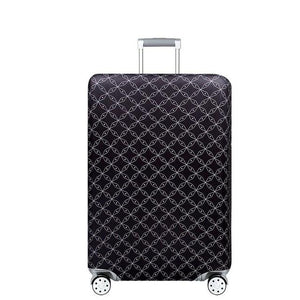 Travel Around The World | Standard Design | Luggage Suitcase Protective Cover interesting sortedfactory Fine Black S